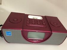 iHome ip43 Pink Clock, Radio FM, iPod, In Good Working Condition.