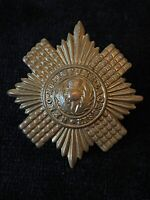 Early The Scots Guards Regiment Brass Cap Badge 100% Genuine Military Army O5/10