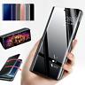 Pour Samsung Galaxy S20 Ultra S10 S9 S8+ Miroir étui cuir intelligent Flip coque
