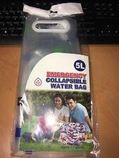 5L Collapsible Water Bag Survival Emergency 1.3 gal Printed BPA free NEW
