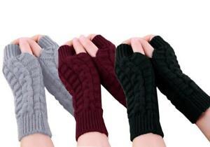 *NEW* Women's Fingerless Knitted Gloves Soft Winter Hand Warmers
