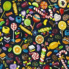 Fat Quarter Candyland Printed 100% Cotton Quilting Fabric Sweets And Treats