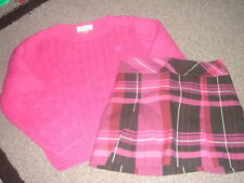 LILLY PULITZER SWEATER PLAID SKIRT SET SZ 5 $$$$