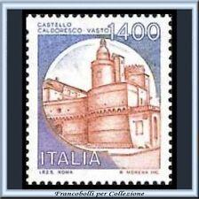 1983 Repubblica Castelli Italia Vasto L. 1400 Nuovo **