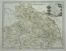 Reilly: Altkolorierter Kupferstich Tschechien Böhmen Mähren Schlesien Slask 1791