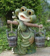 Frosch XXL 40 cm Hoch  Design 1 Deko Garten Gartenzwerg Figuren Dekoration