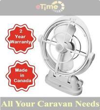 Caframo Sirocco II Fan 12/24V White Caravan RV Motorhome Camper Truck Trailer