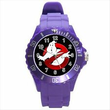 NEW* HOT GHOSTBUSTERS Purple Round Sport Wrist Watch Gift