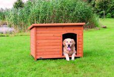 Trixie natura Hundehütte Classic mit Flachdach L: 116 × 82 × 79 cm braun