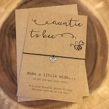 Auntie To Bee Be Pregnancy Announcement Baby Congratulations Wish Bracelet Gift