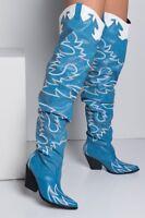 Cape Robbin Rockstud Black Gold Western Pointy Toe Embellished Moto Leather Boot