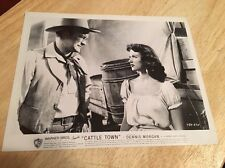 Vintage 1952 Movie Lobby Card - CATTLE TOWN - Dennis Morgan, Rita Moreno