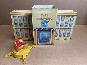 Vintage Marx Cape Canaveral Play Set  - Tin Litho Missile Test Center Building