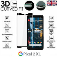 For Google Pixel 2 XL Full Coverage 3D Tempered Glass 9H Screen Protector Cover