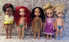 5 Disney Princess Toddler Animator Doll Cinderella Ariel Small World Pocahontas