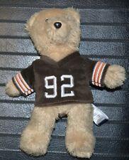 "8"" Cleveland Browns Plush Bear Shaun Rogers Football Jersey Stuffed Animal Bean"