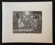 A. Paul Weber, Die Gespenster, Lithographie, 1984, aus dem Nachlass