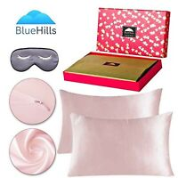 22 Momme Pure Natural Mulberry Silk Pillowcase 3 pack Gift Set Dusty Rose Queen
