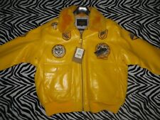 Deadstock YELLOW NEW Schott NYC G-1 Wings of Gold Flight Pilot Bomber Jacket 4XL