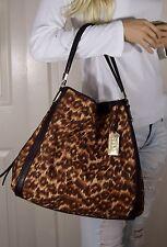 COACH Madison Phoebe Ocelot Print & Leather Handbag Tote