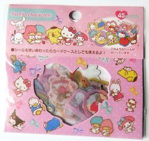 Pack of 45 *Sanrio Characters* kawaii Japanese stickers