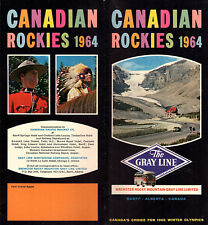 Canadian Rockies Vintage 1964 Gray Line Brochure Bus Tours Scenic Drives Photos