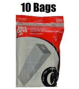 (10) Royal Dirt Devil Upright Vacuum Cleaner Bags, Type C 3-700148-001, GENUINE