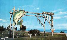 Fish Fry Lodge Cabins Lake Superior Duluth Minnesota Motel Advertising Postcard