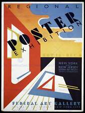 EXHIBITION ADVERT NEW YORK USA POSTERS ABSTRACT VINTAGE POSTER ART PRINT 840PY
