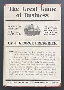 1920 Great Game of Business Psychology 1st Ed. w/DJ ~ Wall Street Stock Market