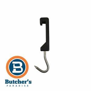 Butcher Plastic Rail Hook Black Half Metal Hanging - 1 Piece