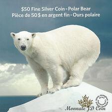2014 Can $50 Polar Bear $50 for $50 Series Silver Coin #1 series (TAX Exempt)
