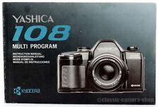 YASHICA Bedienungsanleitung * 108 Multi Program * User Manual Kamera (X2514