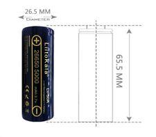 Batteria battery  ricaricabile  26650 5000mAh 3.7V li.ion litio 1 pezzo