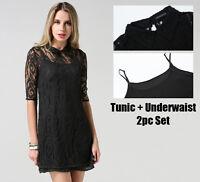 Women Casual Party Club 2pc Dress Set UK Size 4 6 8 10 12 14 16 18 20 22 24 5111