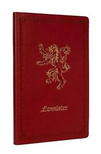 Game Of Thrones - House Lanister Ruled Notebook (128 Pages)