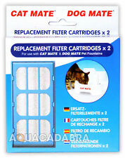 PET MATE CAT DOG WATER FOUNTAIN REPLACEMENT FILTER CARTRIDGES 2 PACK 339