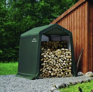Rowlinson Shelterlogic 8x8 Garden Storage Shed In A Box Peak Style Green