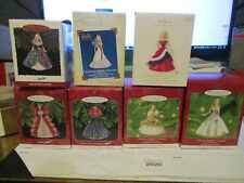 Happy Holiday Barbie set of 7 ornaments.