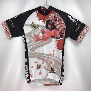 Women's EXTRA SMALL - Paladin Cycling Biking Jersey Full Zip Flower Butterflies