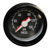 "2""  52mm Mechanical Dual Air Pressure Gauge 0-150 PSI Black Face"