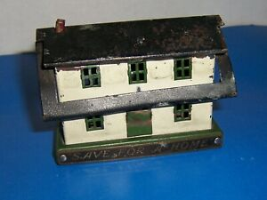 Vintage Neat Tin Metal Bank From North York Pa State Bank Pat Pend