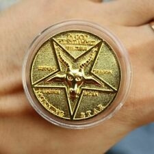 Cosplay Lucifer Morning Star Pentecostal Gold Coin Specie Costume Accessories