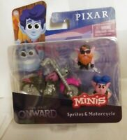 Disney Pixar Onward Minis Sprites and Motorcycle New Car Playset