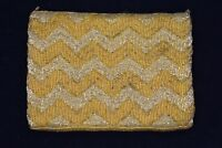 Walborg NWT Bag Clutch Purse Heavy Beaded Metallic Gold Yellow Vintage Formal