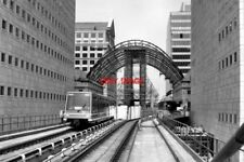 PHOTO  1991 CANARY WHARF RAILWAY STATION DOCKLANDS LIGHT RAILWAY WHEN THE DLR WA