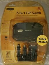 Belkin 2-port Kvm switch cables included Nip