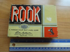 Retro Old PARKER BROS ROOK Card Game Playing Deck Salem Mass MA New York Chicago