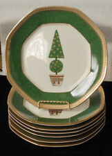 """7 MIKASA TOPIARY L3282 accent plates 9"""" Christmas Holiday look unused"""