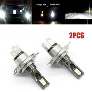 2x H4 LED Headlight Bulbs Conversion Kit Hi-Lo Beam 10000LM 6000K Super White